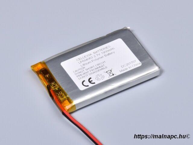 Li-Polymer akku 3.7V 1900mAh 6.8x40x63mm