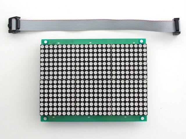 A555 16x24 Red LED Matrix Panel - Chainable HT1632C Driver