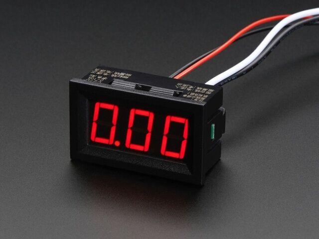 A574 Mini árammérő panel 0 - 9.99A