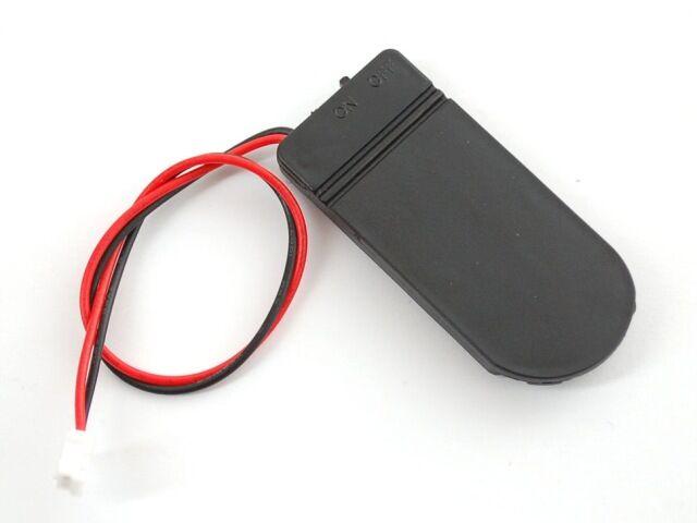 A783 Elemtartó doboz 2db CR2032 elemhez (6V) kapcsolóval