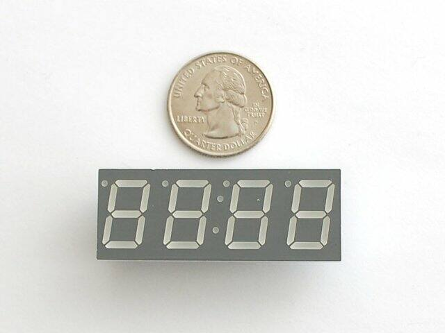 A813 Green 7-segment clock  display 0.56 inch