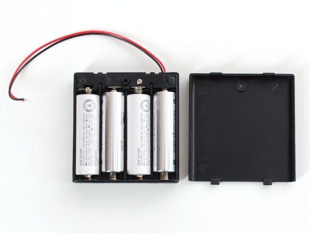 A830 Elemtartó doboz kapcsolóval 4xAA
