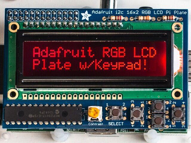 A1110 RGB negatív 16x2 LCD KIT Raspberry Pi-hoz