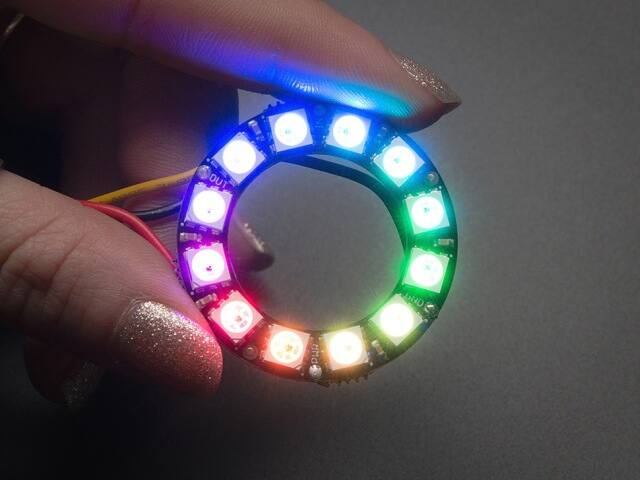 A1643 NeoPixel Ring 12xWS2812 5050 RGB LED-es fénygyűrű