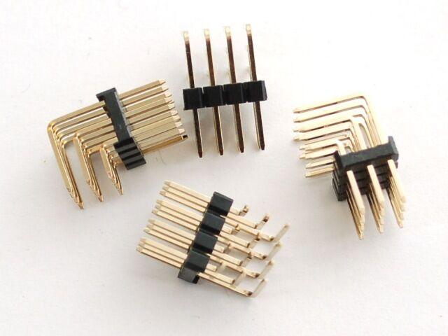 A816 Tüskesor csatlakozó 3x4 pólus 90° 4db/csomag