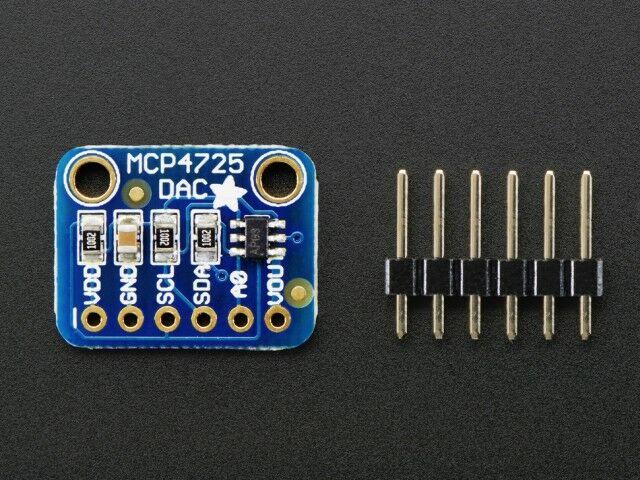 A935 DAC panel MCP4725 12bit I2C interfésszel