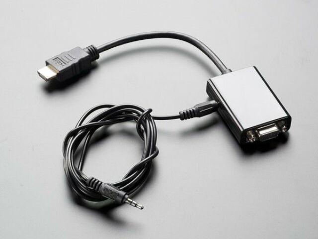HDMI-VGA átalakító + audio adapter