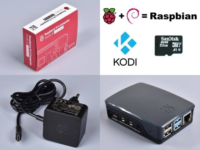Raspberry Pi 4 Official KIT 2GB RAM / 32GB SD - Black