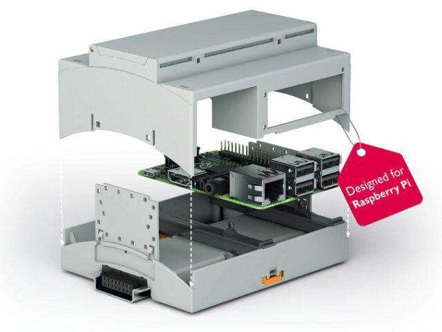 Ipari Raspberry Pi doboz DIN sínre RPI-BC 107,6