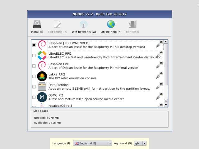 NOOBS 64GB programcsomag