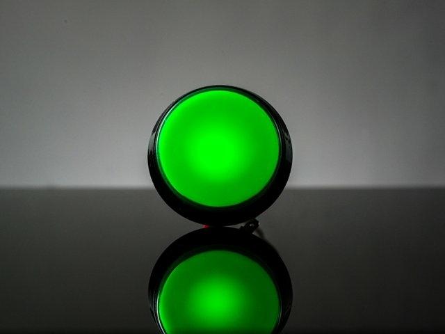 A1193 átmérő 60mm, zöld nagyméretű ledes nyomógomb