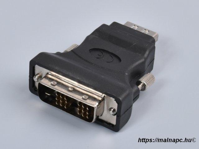 Adapter HDMI-DVI, HDMI aljzat - DVI dugó