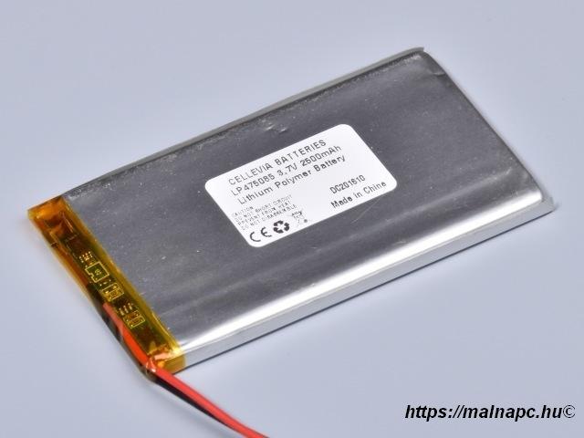 Li-Polymer akku 3.7V 2500mAh