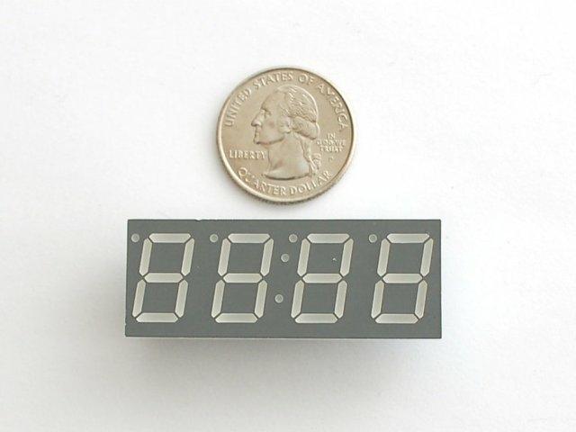 A813 Green 7-segment clock  display 0.56 inch