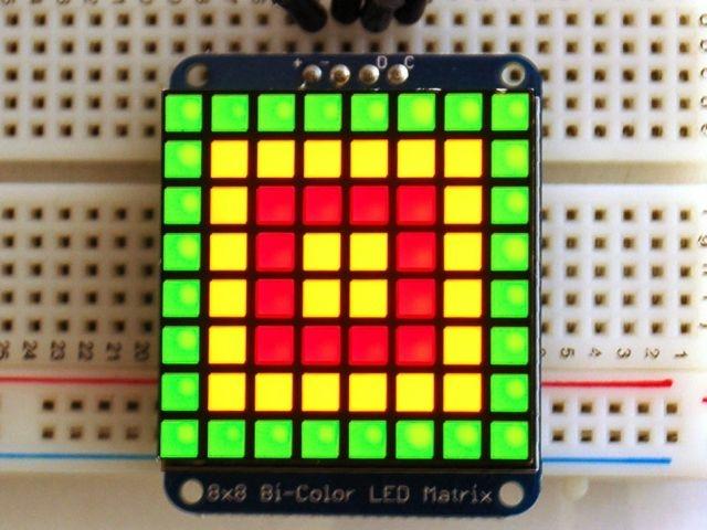 A902 kétszínű LED panel I2C Backpack