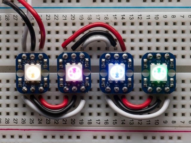 A1312 NeoPixel RGB Smart LED próbapanelhez - 4db