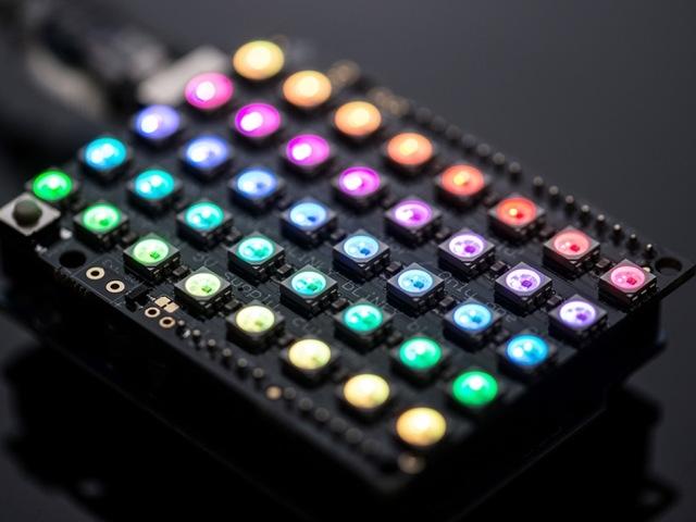 NeoPixel Shield Arduino-hoz - 40 RGB LED Pixel Mátrix