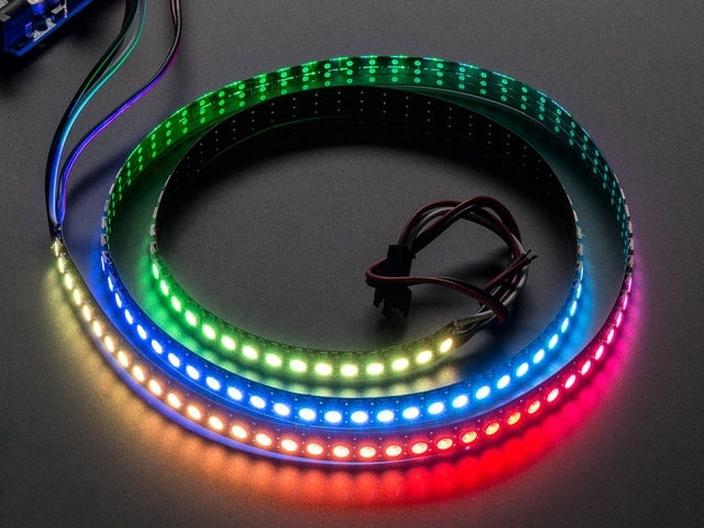 A1506 NeoPixel Digital RGB LED szalag 144 LED - 1m black