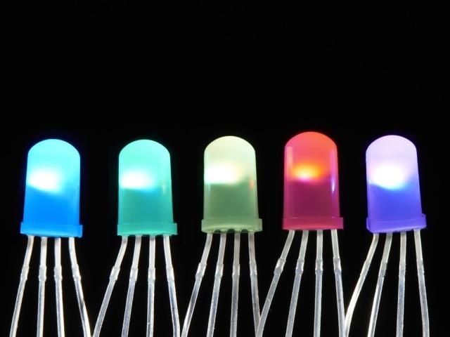A1938 NeoPixel Diffúz 5mm-es RGB LED - 5db