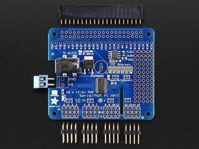 16-channel PWM /Servo HAT for Raspberry Pi