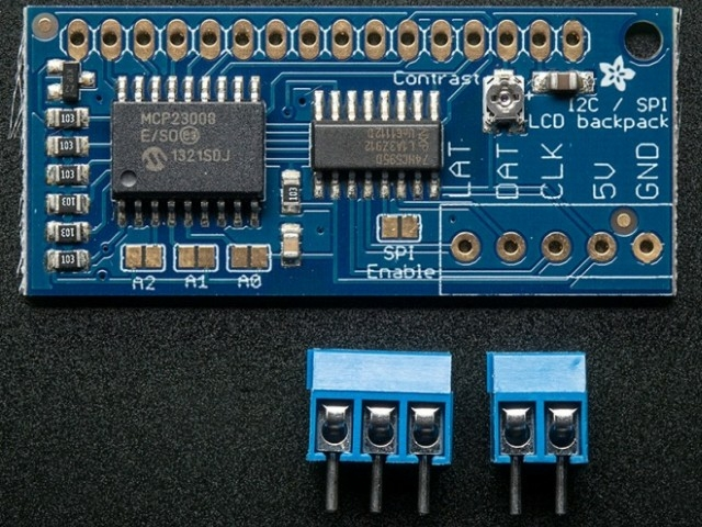 A292 i2c - SPI character LCD backpack