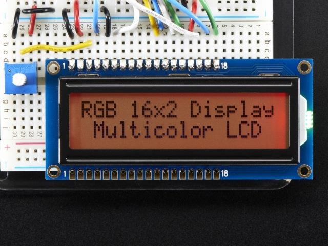 A398 RGB háttérvilágítású 16x2-es LCD display