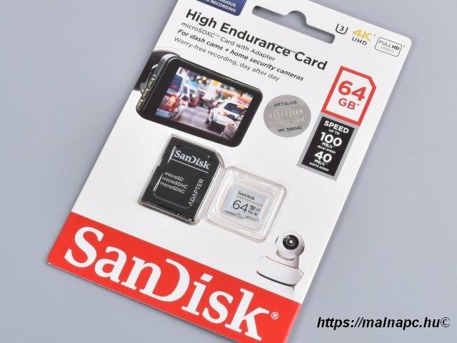 Sandisk 64GB microSD High Endurance kártya