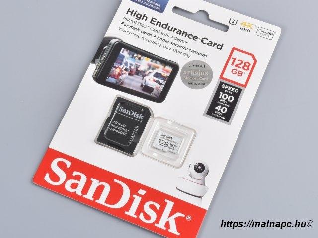 Sandisk 128GB microSD High Endurance kártya