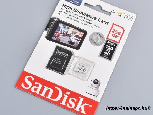 Sandisk 256GB microSD High Endurance kártya
