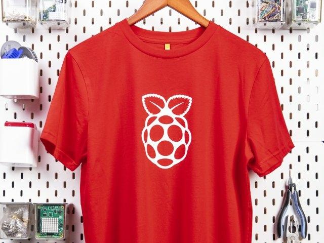 Raspberry Pi piros póló